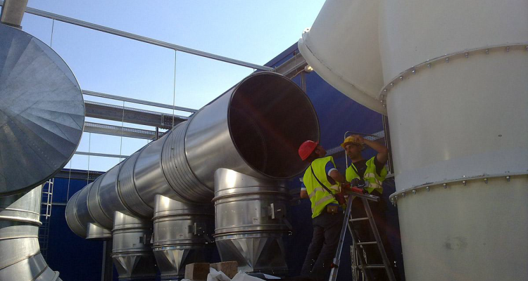 Metalclima service srl - installazione condotte in lamiera zincata